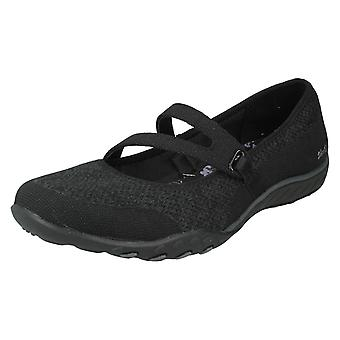 Ladies Skechers Relaxed Fit Casual Shoes Breathe Easy Lucky 23005/BLK