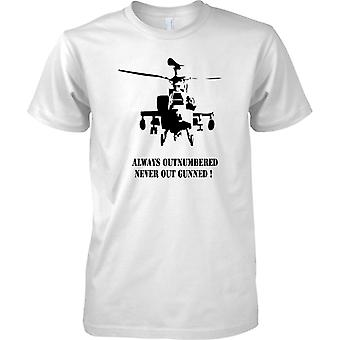 Apache AH-64 Always Outnumbered Never Out Gunned - Kids T Shirt