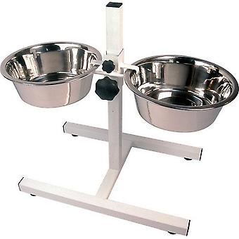 Rosewood Adjustable Double Diner Set For Dogs