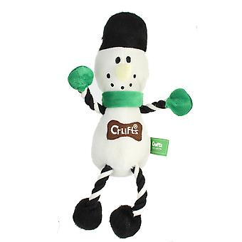 Crufts Squeaky Christmas Snowman Pet Dog Toy