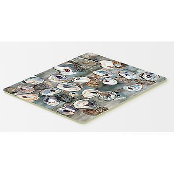 Carolines trésors 8957CMT tas d'huîtres cuisine ou tapis de bain 20 x 30