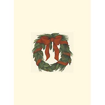 Small Holiday Wreath (H) Poster Print by Jennifer Goldberger (5 x 5)