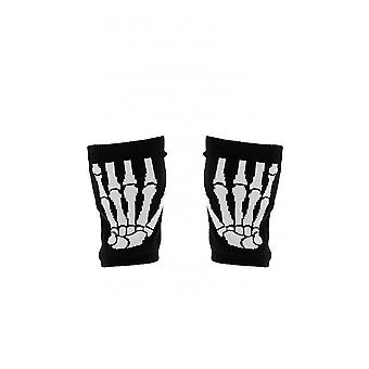 Attitude Clothing Fingerless Skeleton Gloves
