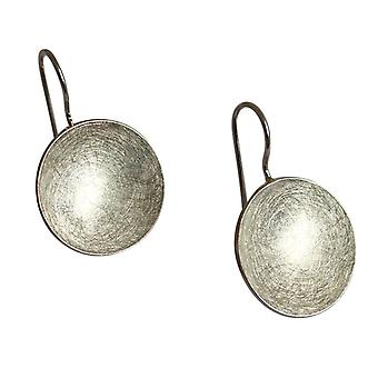 GEMSHINE ladies earrings in high-quality Matt finish, solid 925 Silver. Elegant round designer earrings. Made in Madrid, Spain. Delivered in the elegant jewelry with gift box.