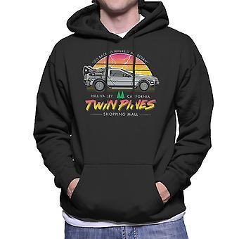 Back To The Future Twin Peaks Twin Pines Men's Hooded Sweatshirt