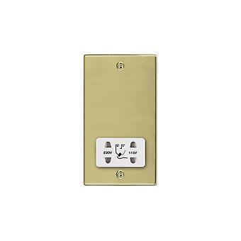 Hamilton Litestat Hartland Polished Brass Shaver Dual Volt Socket WH