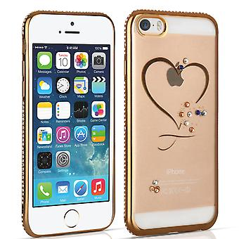 iPhone 5 And 5s And SE Diamond Edge Case - Gold