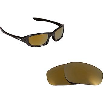 Best SEEK Polarized Replacement Lenses for Oakley FIVES 4.0 Black Gold Mirror