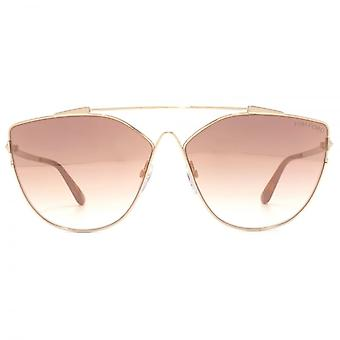 Tom Ford Jacquelyn 02 Sunglasses In Gold Brown