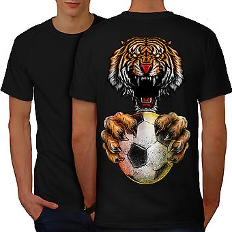 Sport Ball Tiger Animal Men BlackT-shirt Back | Wellcoda