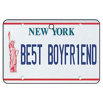New York - bästa pojkvän registreringsskylt bil luftfräschare