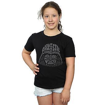 Star Wars Girls Darth Vader Text Head T-Shirt