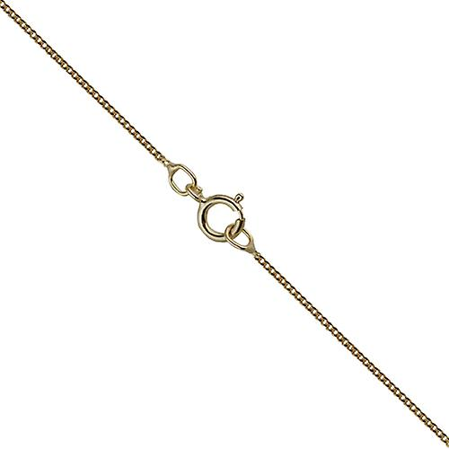 9ct Gold 17mm number 30 in twisted wire circle Pendant with a curb Chain 16 inches Only Suitable for Children