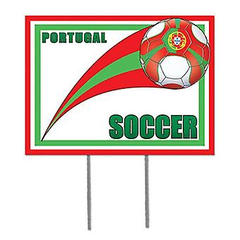 Portugal football jardin signe
