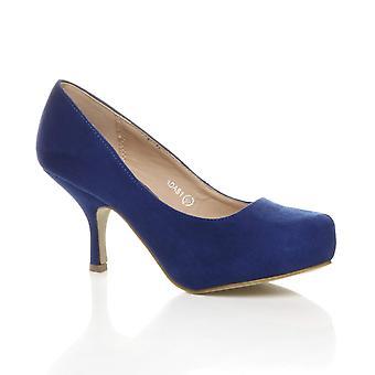 Ajvani dame lav midten hæl skjult platform arbejde formelle domstol sko