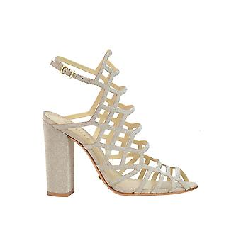 Protection women's MCGLCAT03275E gold leather sandals