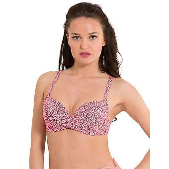 LingaDore 2917BT-155 Women's Festival Pink Animal Print Swimwear Beachwear Bikini Top
