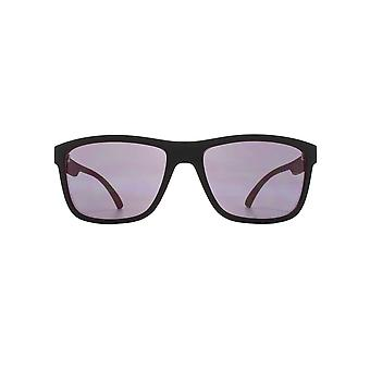 FCUK Sporty Square Sunglasses In Black On Red