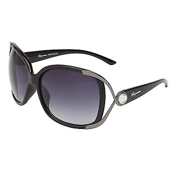 Elegant sunglasses for women by Burgmeister with 100% UV protection | solid polycarbonate frame, high quality sunglasses case, microfiber glasses pouch and 2 years warranty | SBM128-231 Wien