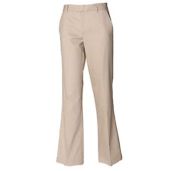 Henbury Ladies Flat Front Trousers