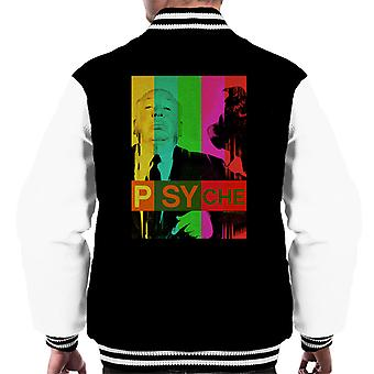 Alfred Hitchcock The Birds Psyche Colour Poster Men's Varsity Jacket