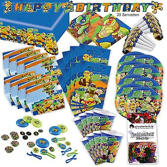 Turtles helped shell heroes party set XL 95-teilig for 8 guests turtle turtle decoration party package