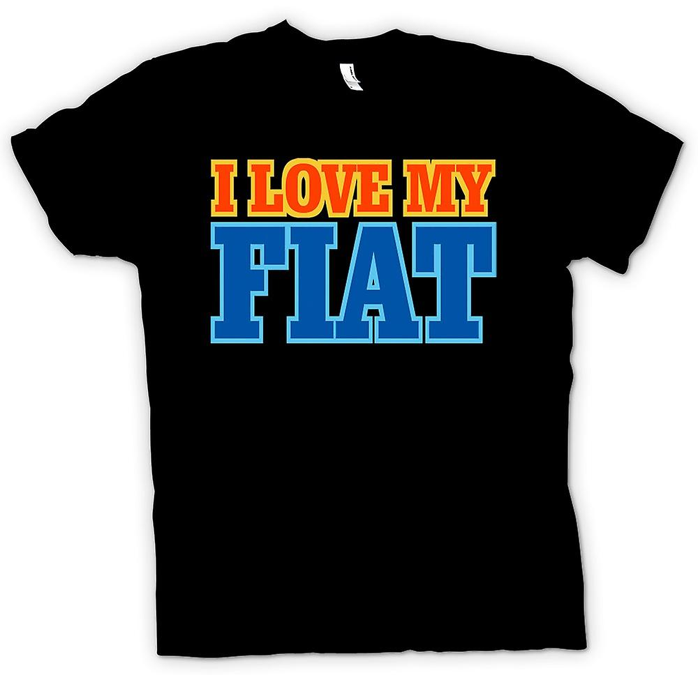 Womens T-shirt - I Love My Fiat - Car Enthusiast