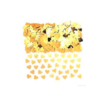 Konfetti guld hjerter - Massive poser. Køb 1 få 1 gratis (2 x taske 84g)