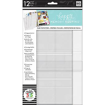 Create 365 Happy Memory Keeping Big Page Protectors-12 Pre-Punched Sheets, 4 Designs/3 Each