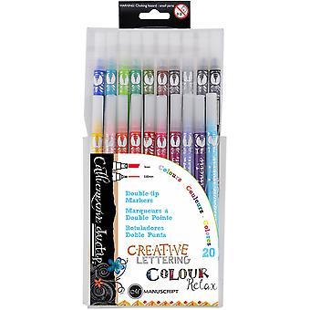 Manuscript Callicreative Duo Tip Pens 20/Pkg