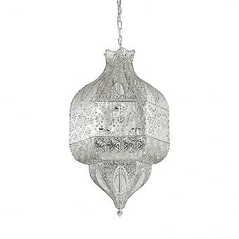 Ideal Lux Nawa-1 8 Bulb Pendant Light Argento