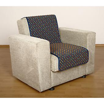 Seat saver wool dots blue 175 x 47 cm