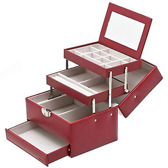 Davidt's jewelry case jewelry box red Castle mirror tray