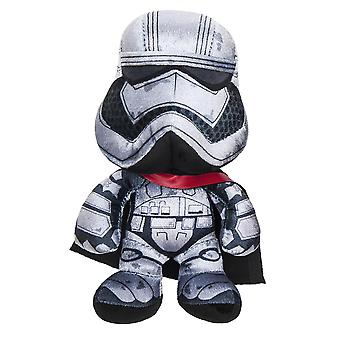 Star Wars plush figure Captain Phasma episode 7 black-silver, 100% polyester, Velvet plush Velboa, standing.