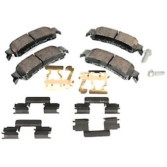 ACDelco 171-668 GM Original Equipment Rear Disc Brake Pad Kit with Brake Pads, Clips, and Bolts