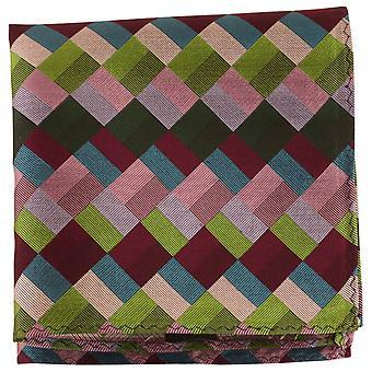 Knightsbridge Neckwear Diamond Silk placu kieszeni - zielony/Multi-colour