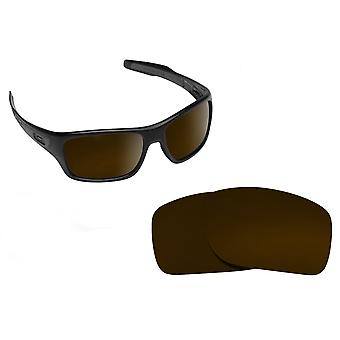 TURBINE Replacement Lenses Polarized Bronze Brown by SEEK fits OAKLEY Sunglasses