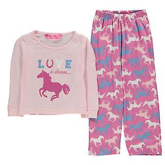 Dream Kids Girls Pyjama Infant Set Long Sleeve Crew Neck Cotton Print Straight