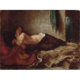 Odalisque, Eugene Delacroix, 26x33cm
