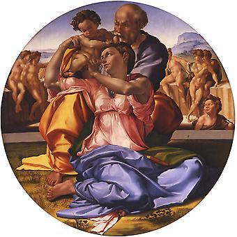 神聖な家族、ミケランジェロ、50x50cm