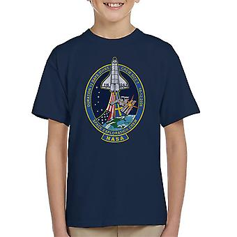 NASA STS 116 Discovery Mission Badge Distressed Kid's T-Shirt
