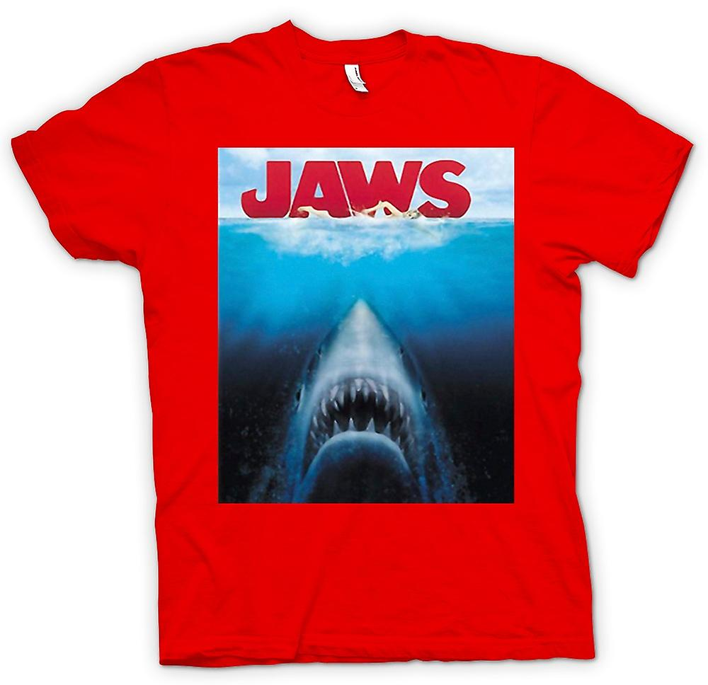 Herr T-shirt - Jaws vithaj - film
