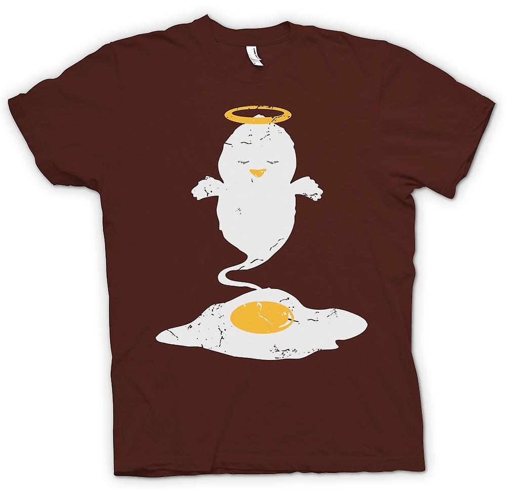 Mens T-shirt - Angel Chick - Funny Egg Ghost