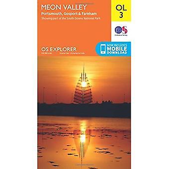 OS Explorer OL3 Meon Valley, Porstmouth, Gosport & Fareham (mapa OS Explorer)
