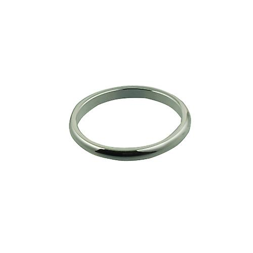 Platinum 2mm plain D shaped Wedding Ring Size O