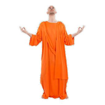 Orion costumes Mens orange bouddhiste moine robe religieuse Déguisements costume