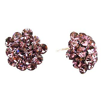 Inexpensive Holiday Gift Buy Sparkling Crystals Flower Earrings