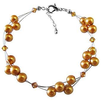 Copper Gold Cheap Bridesmaid Jewelry Copper Crystals Designer Jewelry