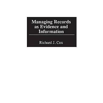 Administration af poster som beviser og oplysninger af Cox & Richard