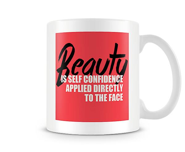 Beauty Self Confidence Applied To The Face Mug